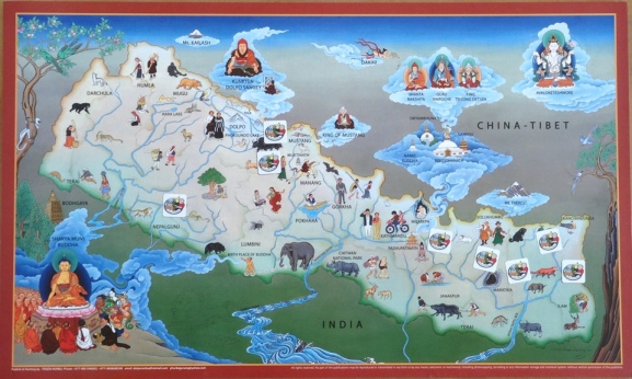 Nepal-Map-Tenzin-Norbu-small